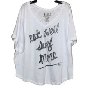 "NWT. BILLABONG ""Eat Well Surf More"" Shirt"
